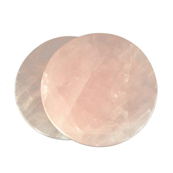 rose quartz coasters